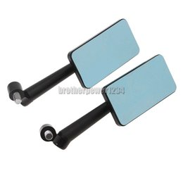 Wholesale Rearview Mirrors For Kawasaki - Blue anti-glare Rearview Side Mirrors for Honda Kawasaki Suzuki 6mm 8mm 10mm Motorcycle