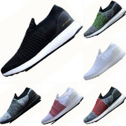 Wholesale pattern socks - 2018 New Boost Bottom Knit Vamp Ventilation Socks Running Shoes Original UltraBoost Uncaged Laceless UB Cushioning Sports Sneakers