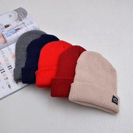 195eaa6a788 New Korea Fashion Women Autumn Winter Cap Solid Color Cartoon Cotton Knitted  Skuilles Beanies For Boys Girls Warm Casual Hat