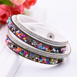 Wholesale Cheap Silver Bracelets For Women - Leather bracelets Fashion Multilayer Wrap Bracelet for Women men's bracelet Woman Bohemian Beads Bracelets bangles cheap Jewelry