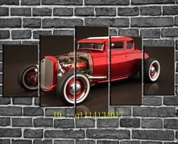Wholesale Traditional Oil Paintings For Sale - 1931 Ford Model A Trucks for Sale,5 Pieces Canvas Prints Wall Art Oil Painting Home Decor  (Unframed Framed)