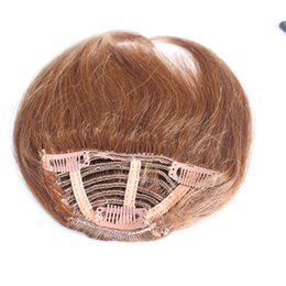 Wholesale Real Hair Hairpieces - bangs Clip in bang fringe Hair extensions straight human hair 100% Real Natural hairpiece