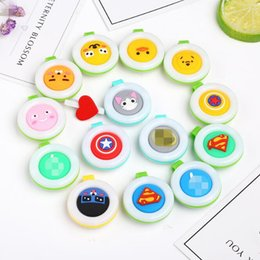 Wholesale baby badge - Mosquito Repellent Badge Button Buckle Colorful Cartoon Cute Baby Pregnant Unisex Mosquito Repellent Bracelet CCA9917 5000pcs