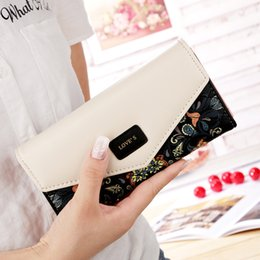 print checkbook Promo Codes - Fashion Printing Women Wallets Leather Women Purse High Quality Wallet Female Clutch Large Capacity
