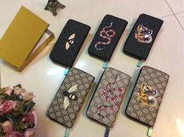 Wholesale korean fashion high quality - ZIPPY WALLET with additional credit card slots high quality genuine leather women purse Classical famous designer brand long wallet