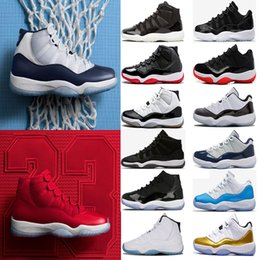 Wholesale Blue Green Shoes - (with box) 11 11s Gym Red Chicago Midnight Navy WIN LIKE 82 96 UNC Space Jam PRM Heiress men Basketball Shoes sports Sneaker