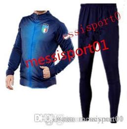 Wholesale Italy Trains - chandal jacket italy tracksuit jacket set Soccer jacket TRAINING 2017 2018 kit Italy chandal set Survetement italia football SPORTSWEAR suit