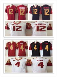 Wholesale Fsu Jersey - 2018 Mens ACC FSU Florida State Seminoles NCAA College Football Jerseys Embroidery logo #12 Deondre Francois 4 Dalvin Cook Jersey