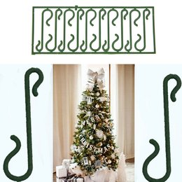 Wholesale Ornament Hooks - New 10pcs Small Green Christmas Ornament tree Hook Decoration Hanger Wire