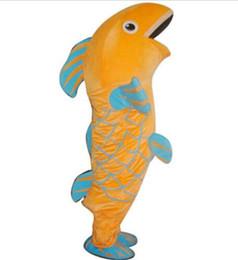 Il nuovo costume sveglio adulto del partito di vendita del costume della mascotte della carpa del pesce del fumetto della MARCA del costume operato di marca libera la nave da abiti di fantasia costumi pesce fornitori