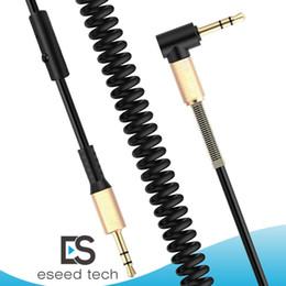 Enrolado Cabo de Áudio Estéreo de 3.5mm Macho para Macho Cabo Aux Auxiliar Universal para Carro alto-falantes bluetooth fones de ouvido fone de Ouvido PC Speaker MP3 de Fornecedores de cabo dual usb otg