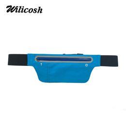 Wholesale Slim Waist Bag - Wilicosh Women Fanny Pack Bum Bag Multifunctional Waist Bag For Moblie Phone Waterproof Slim Waist Belt Pouch DF0315