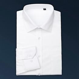 xxs vestidos brancos Desconto Venda quente Simples Tuxedo Nova Marca Slim Fit Manga Comprida Camisas de Vestido Dos Homens Casuais Tie Decor Casamento Noivo Masculino camisa