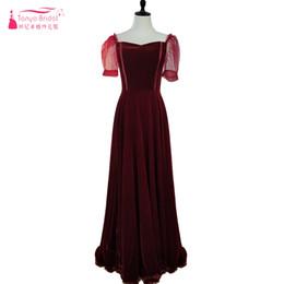 Burgundy A Line Robes de soirée 2018 Velour Elegant Sweetheart Simple Long Robes de bal Lace Up Special Occasion Robes ZE015 ? partir de fabricateur