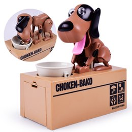 Wholesale swings for kids - Wholesale Baby Puzzle Electric Sounding Dog Toys Swing Creative Eat Money Piggy Bank kids toys for children Novelty Toy Brand