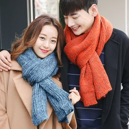 182e94f4d5b88 SUMEIKE New fashion Korean scarf winter knit solid color thick widen large  shawl long unisex couple Scarves korean couple scarf for sale