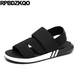 große elastische schuhe Rabatt Strap Berühmte Marke Männer Gladiator Sandalen Sommer Römischen Große Größe Schwarze Schuhe Plus Sneakers Outdoor Sport Plattform 47 Elastic 46
