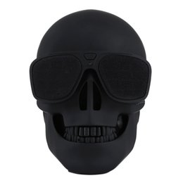 Mobile kühlung online-Skull Player Wireless Bluetooth Speaker Sunglass speaker Mobile Subwoofer Multipurpose Speakers Cool For Smart Android phone