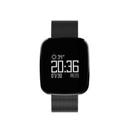Часы приложения онлайн-Smart Band V6 прогноз погоды монитор сердечного ритма монитор артериального давления APP operating Quick release ремешок водонепроницаемый и пылезащитный часы