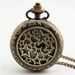 2019 старинные большие часы Большая звезда резные стимпанк карманные часы старинные антикварные круглый циферблат кварцевые часы цепи ожерелье кулон часы для мужчин женщин дешево старинные большие часы