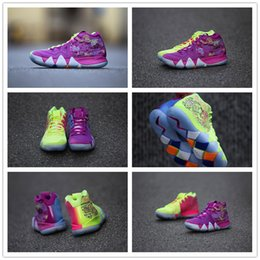 Wholesale Low Cut Shoes For Basketball - 2018 What the Irving 4 Men's Basketball Shoes for Best quality 4s Multicolor Purple Yellow Black Red Grey Green Sports Sneakers Half US 7-12