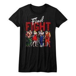 Combat Final Groupe De Combattants Capcon Jeu Vidéo Womans Fitted T Shirt Fitness T-shirt Filles Bodybuilding Tees ? partir de fabricateur