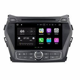Wholesale Hyundai Ix45 - Android 7.1 Octa Core 2GB RAM 16GB ROM Car DVD Radio GPS for Hyundai IX45 Santa Fe 2013 2014 With Bluetooth WIFI Mirror-link DVR
