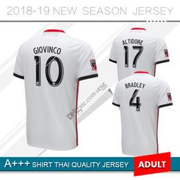 8cf403ad1 2019 Toronto FC Away Soccer Jersey 18 19  10 GIOVINCO  4 BRADLEY  17  ALTIDORE White Soccer Shirt Customized MLS Football Uniform men