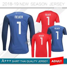 0946288956a 2018 World Cup red Long Sleeve GermaNY Goalkeeper Jersey Neuer Soccer  Jerseys Ter Stegen GK Muller Neuer Keeper Football Shirts blue kit