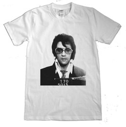 mug shots Coupons - ELVIS T SHIRT ELVIS PRESLEY MUG SHOT T-SHIRT THE KING ROCK N ROLL DTG1 jacket croatia leather tshirt denim clothes camiseta?t shirt
