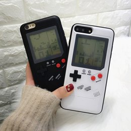 Wholesale Game Machines - New Iphone Machine shell game machine Frog Built-in 8 Classic Games machine for iphone6 7 8 plus sp protect shell Nostalgic game console