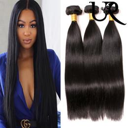 Бразильские волосы переплетение 8inch онлайн-Перуанские прямые выдвижения человеческих волос 3/4 пачек малайзийский бразильский филиппинский Виргинский Реми волос Weave шелковистые прямые Dyeable 8inch - 28inch
