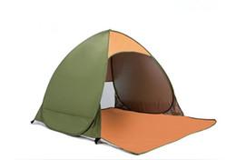A escolha ao ar livre-Outdoor 2 pessoas totalmente automático cama de solteiro quarto barraca de praia à prova d 'água tenda de praia de Fornecedores de barracas da família transporte livre