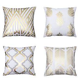 Bordi decorativi online-Cross border speciale per la nuova serie bronzante creativo cuscino cuscino set super soft corto peluche Amazon esplosione decorativa pi