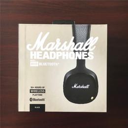 Wholesale Mid Wireless - Marshall MID Bluetooth Headphones With Mic Deep Bass DJ Hi-Fi Headset Professional Marshall Headphones Wireless headsets free shipping