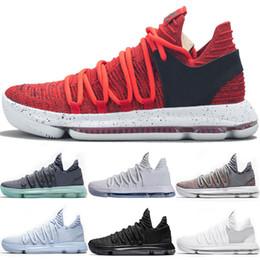 san francisco c37f9 9b438 Nouveau Zoom KD 10 anniversaire Université Chaussures de basketball Triple  blanc noir noir multicolore BHM Igloo anniversaire Oreo Athletic Sport  Sneakers