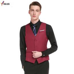 Wholesale Men S Gray Dress Vests - 2017 New Style Single Breasted Vintage Suit Vests for Men Slim Men Gilet Wedding Waistcoats Colete Homem Sleeveless Dress Vests