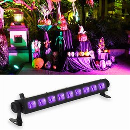 Wholesale led color wash - UV LED Bar Black Light Fixture 18W 27W 36W 54W Blacklights LED Wall Wash Light Lamp for Party Florescent Poster Disco Stage Lighting