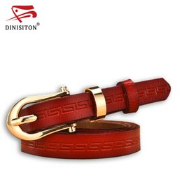 Wholesale Wholesale Leather Belt Straps - DINISITON Designer Belts Women High Quality Luxury Brand Genuine Leather Ladies' Belt For Jeans Casual Vintage Strap AD006