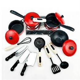 Wholesale toy kitchen utensils wholesale - Novetly Plastic Kids Kitchen Toys Funny Children Pretend Enact Act Toys Cooking Utensils Kitchenware Set Toy