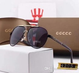 Wholesale European Sunglasses Brands - High-quality imported materials HD polarized European brand sunglasses fashion designer glasses outdoor travel eyeglasses with box 4305