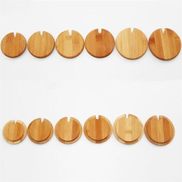 Wholesale Wholesale Coffee Accessories - Wooden Glass Cans Cup Cover Coffee Mug Lids Anti Dust Drinkware Lid Kitchenware Accessory 3xm C R