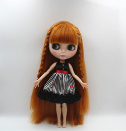 Wholesale Doll More - Blygirl Blyth doll Wheat color bangs straight hair nude doll 30cm joint body more joint body 19 DIY can change makeu