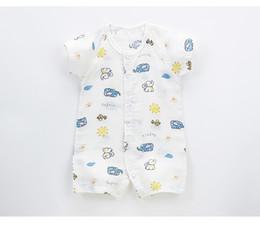 4 couleurs 2018 Vibrant ours nouveau-né bébé vêtements été combinaison mince à manches courtes barboteuse coton robe d'été livraison gratuite ? partir de fabricateur
