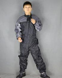 мотоцикл гоночный костюм Скидка 2016 Men's Motorcycle ride one piece work wear clothing automobile race one piece quality raincoat jumpsuit singer costumes