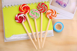 Großhandelspreis direkt versandkostenfrei 0.5mm acht stil mischung lollipops 4.2x15cm 144pcs / lot kugelschreiber bp245 von Fabrikanten