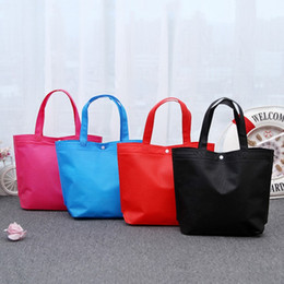Wholesale advertising clothes - Customize the LOGO Nonwoven fabric Reticule Advertising shopping bags Environmental gift handbag Light Clothing bag File pocket Foldable A04