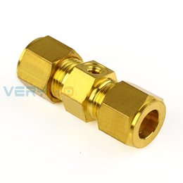 water garden pipe spray Promo Codes - 5Pcs Brass Garden Water Irrigation Clamping sleeve type through hole free pipe Spray Nozzle Garden Watering accessories