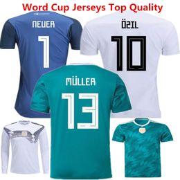 715443df2 Camiseta de fútbol de Alemania Jersey de fútbol Muller 2018 Rusia Uniforme  de Kroos Ozil Hummels Draxler de manga larga para niños Neuer Camiseta de  portero ...