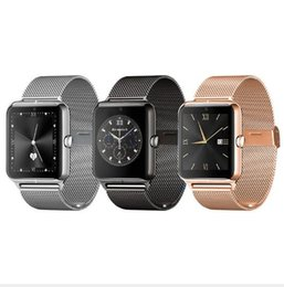 Wholesale Internet Homes - Z50 metal Bluetooth Smart Watch 2G Internet NFC Support SIM TF Card Wearable Devices SmartWatch For Apple Android Phone